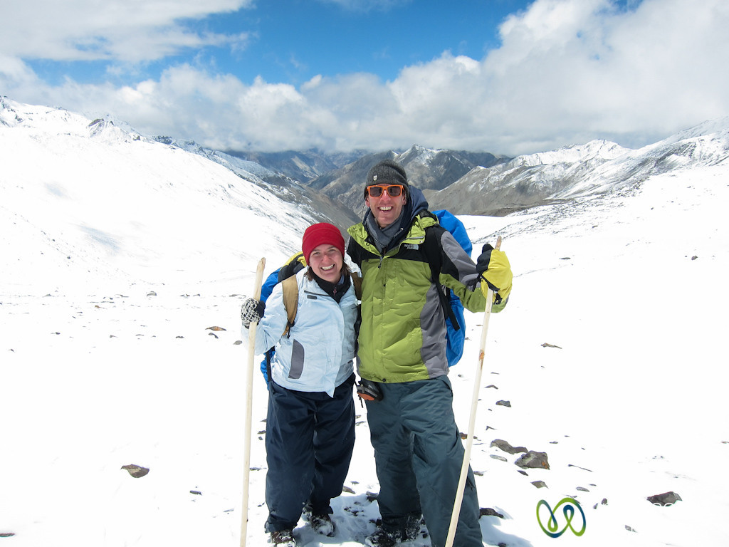Dan and Audrey After Ganda La Pass - Ladakh, India