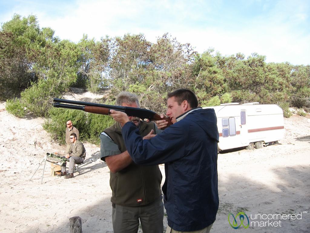 Dan Goes Skeet Shooting at Buffelsfontein - Western Cape, South Africa