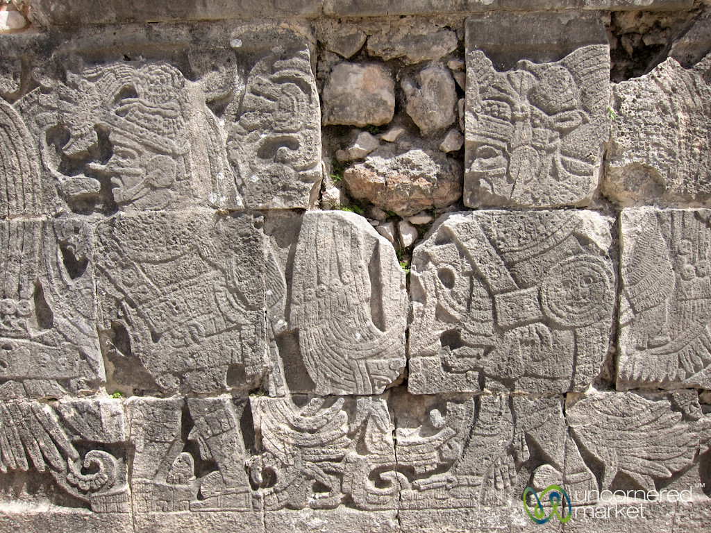 Mayan Reliefs at Chichen Itza, Mexico