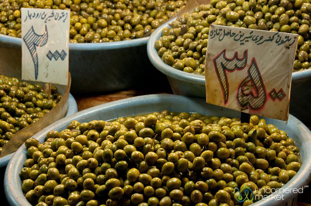 Iranian Olives at Rasht Market, Iran