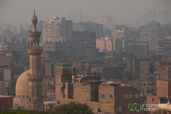 Cairo Skyline and Mosque - Egypt