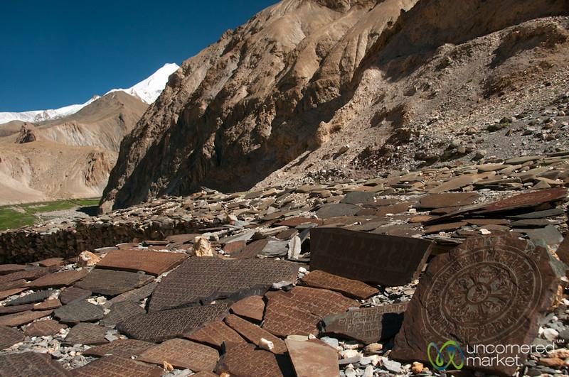 Mani Wall at Hankar Village - Markha Valley Trek, Ladakh