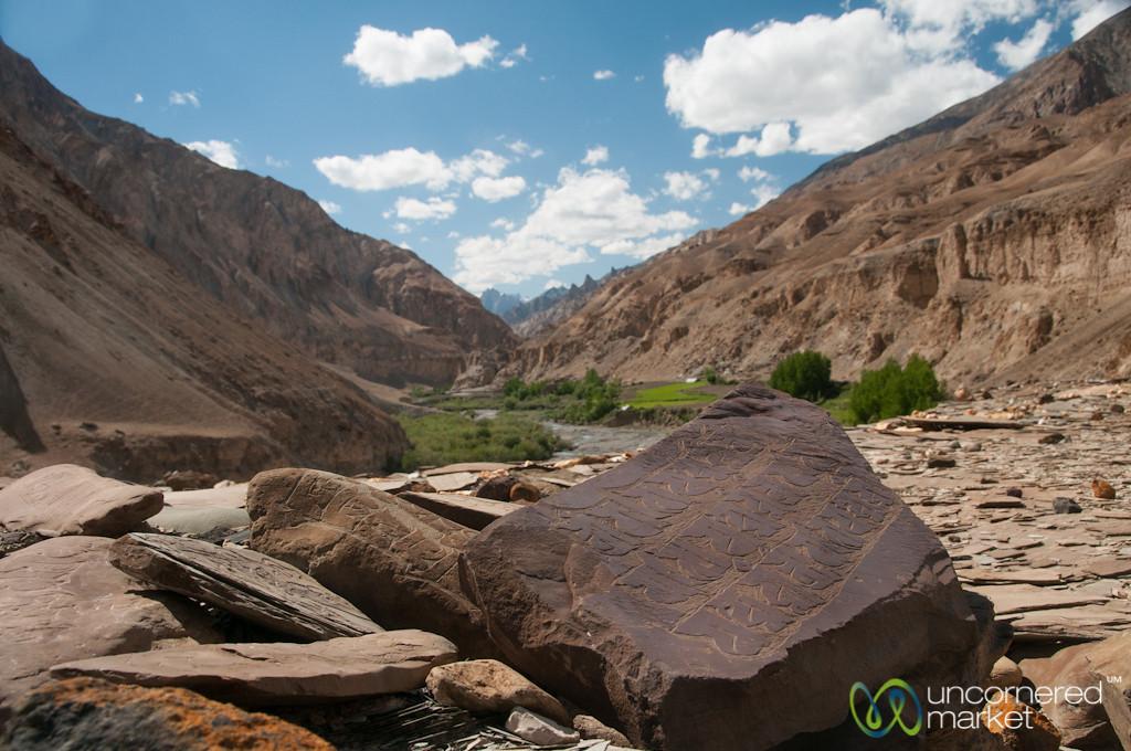 Mani Walls and Mountain Views - Ladakh, India