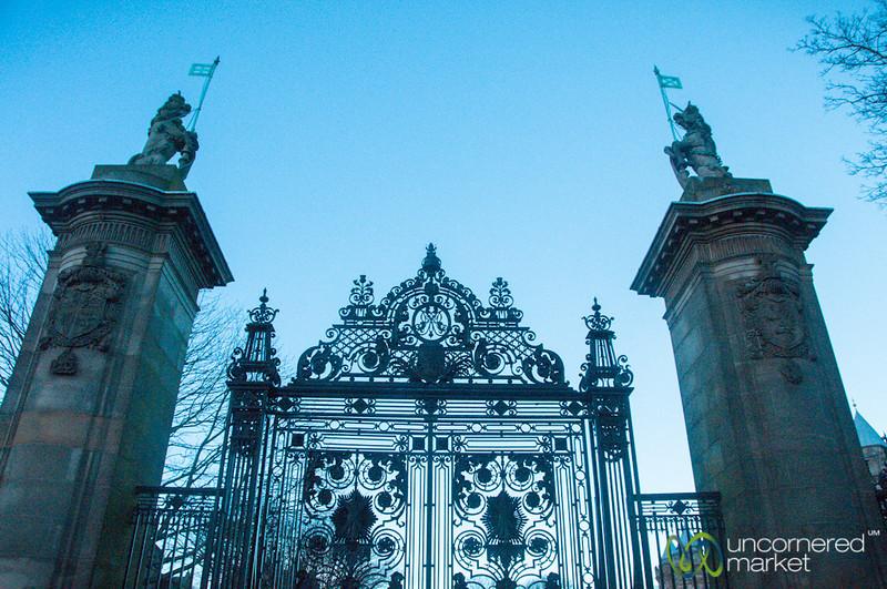 Entrance to Holyrood Palace - Edinburgh, Scotland