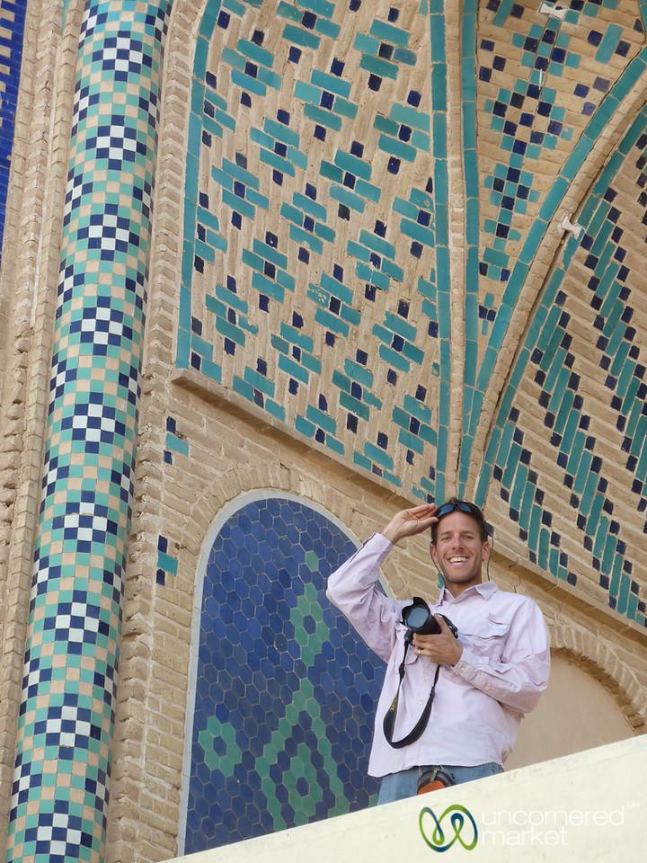 Dan Photographing at Amir Chakhmaq Mosque - Yazd, Iran