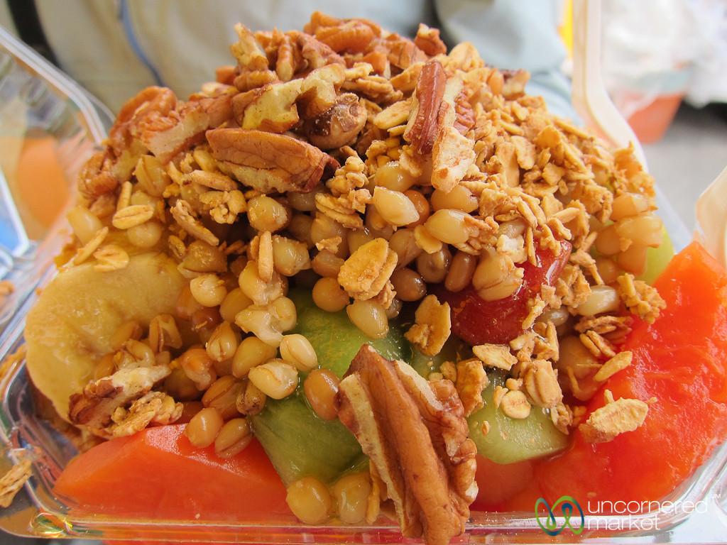 Fruit Salad with Granola - Oaxaca, Mexico