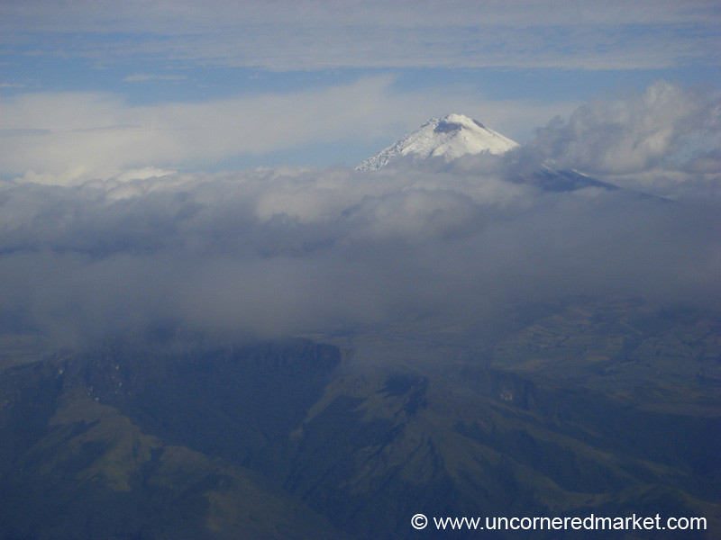 Flying into Quito, Ecuador