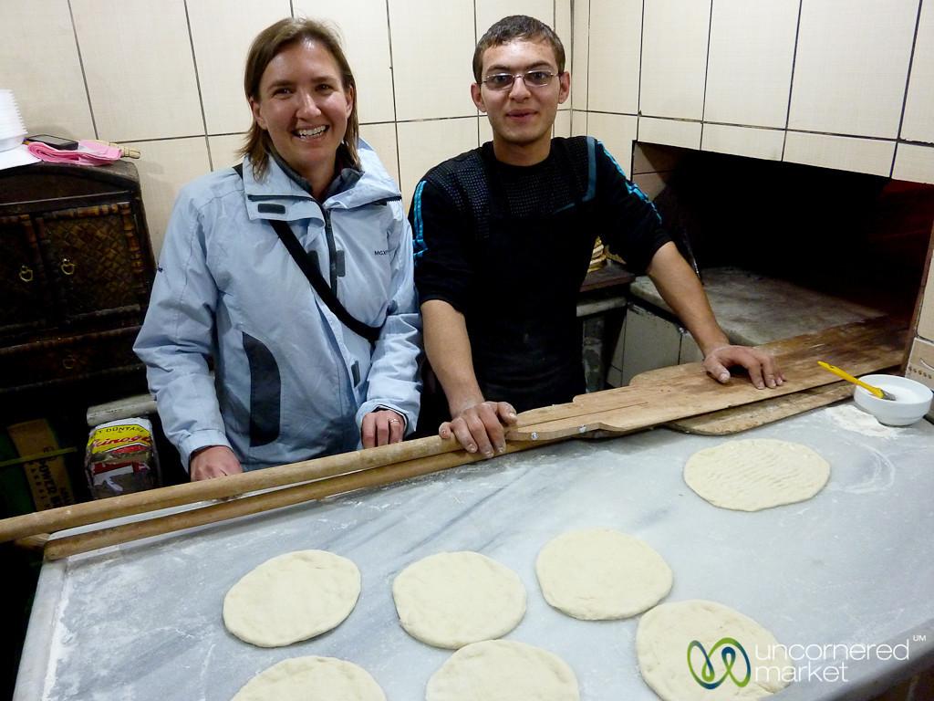 Making Turkish Bread in Istanbul