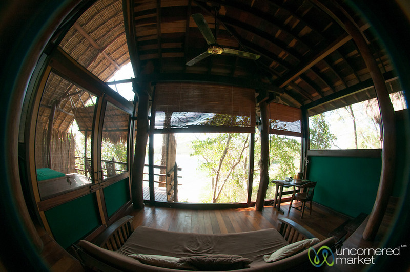 Fisheye View Inside a Room at Morgan's Rock Ecolodge, Nicaragua