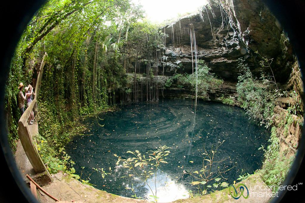 Fisheye View of Xochempich Cenote - Yucatan, Mexico