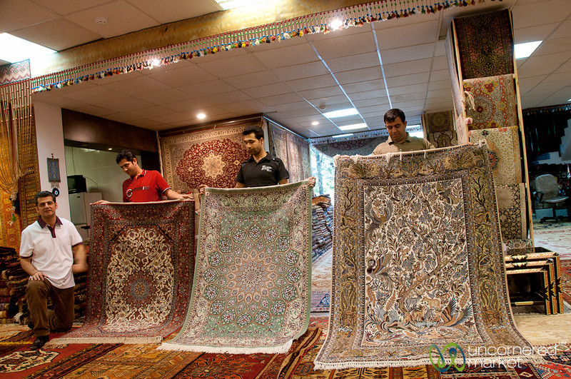 Persian Carpet Shopping in Shiraz, Iran