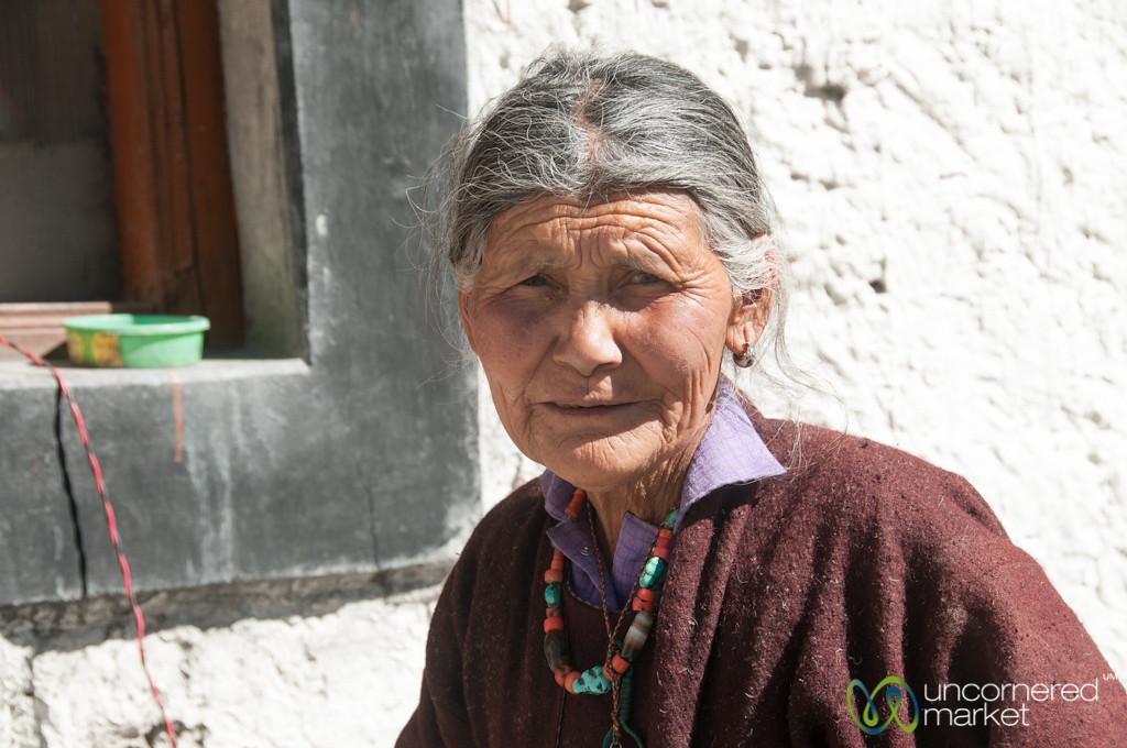Grandmother at Homestay in Markha Village - Ladakh, India