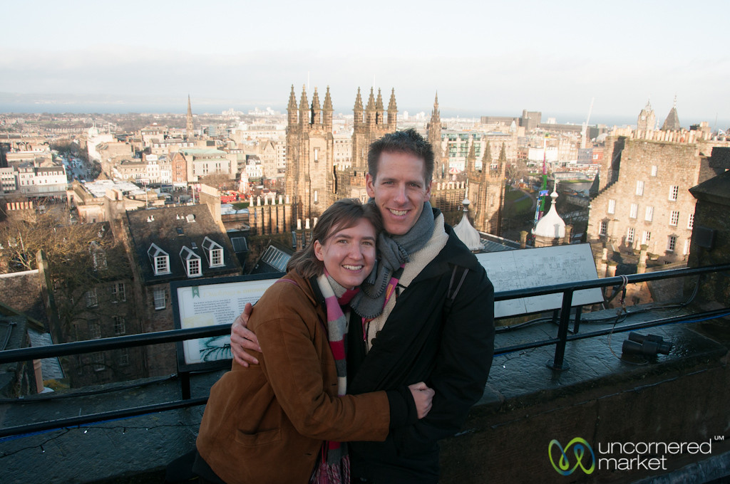 On the Rooftop of Camera Obscura - Edinburgh, Scotland