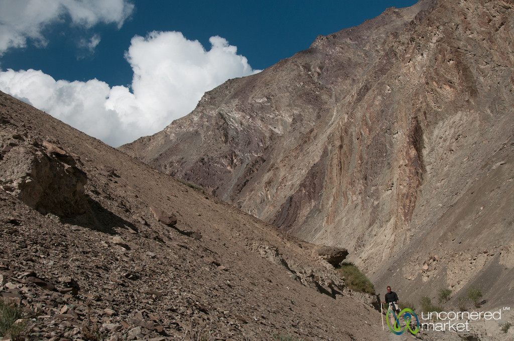 Dan in the Valleys on Way to Skyu - Ladakh, India