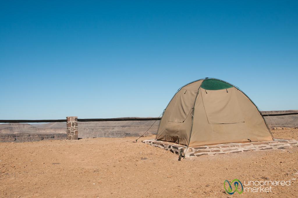 Camping at the Fish River Canyon - Namibia
