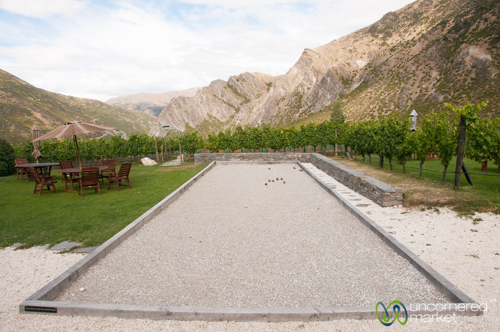 Petanque at Brennan Winery - Gibbston Valley, New Zealand