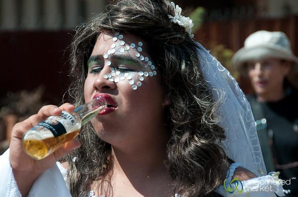 Bride Needs Beer - Carnaval in San Martin Tilcajete, Mexico