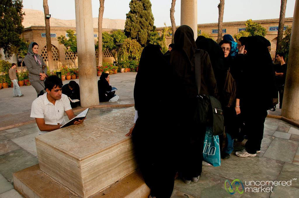 Gathering Around Hafez Tomb - Shiraz, Iran