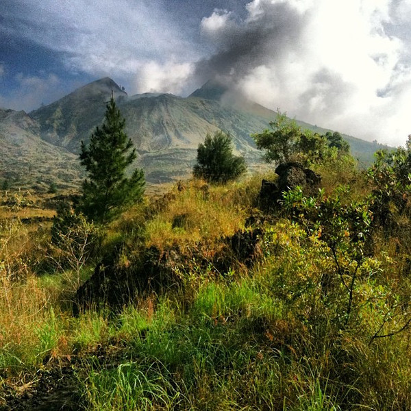A volcanic puff from Bali's Mt. Batur #Indonesia