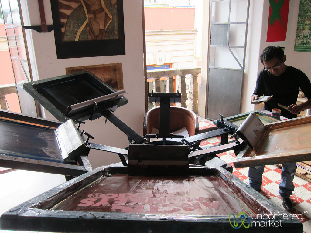 Silkscreens at Oaxaca Design Studio