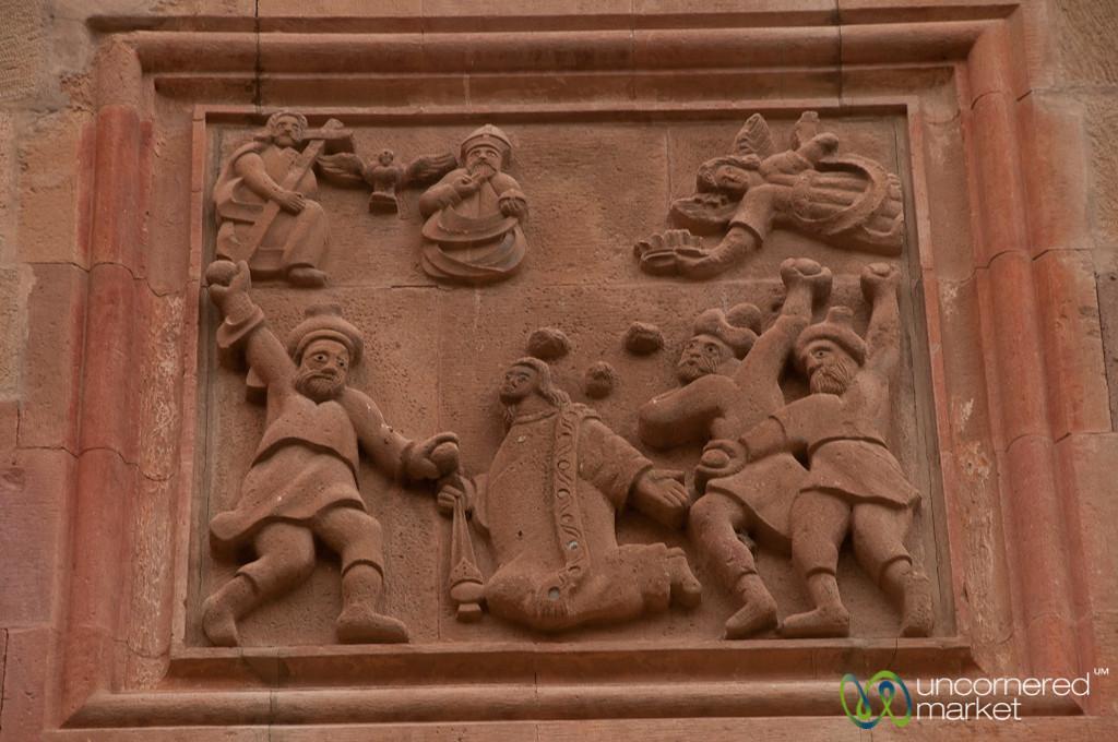 Engravings at St. Stephanos Church - Jolfa, Iran