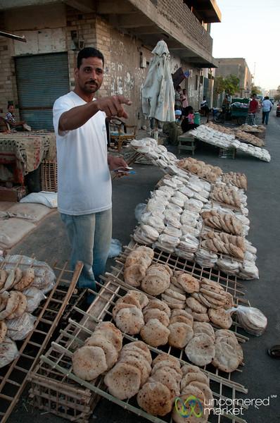 Egyptian Flatbread at the Hurghada Market - Egypt