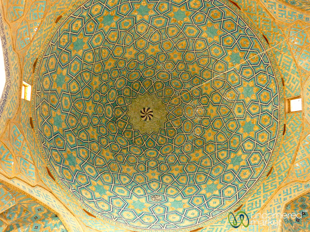 Persian Design Ceiling at Jameh Mosque - Yazd, Iran