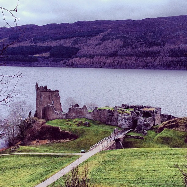 Castle Urquhart, drama on the shores of Loch Ness #Scotland #blogmanay