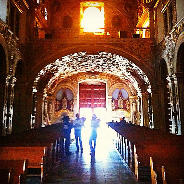Walk to the light. Inside Santo Domingo Church, #oaxaca #mexico