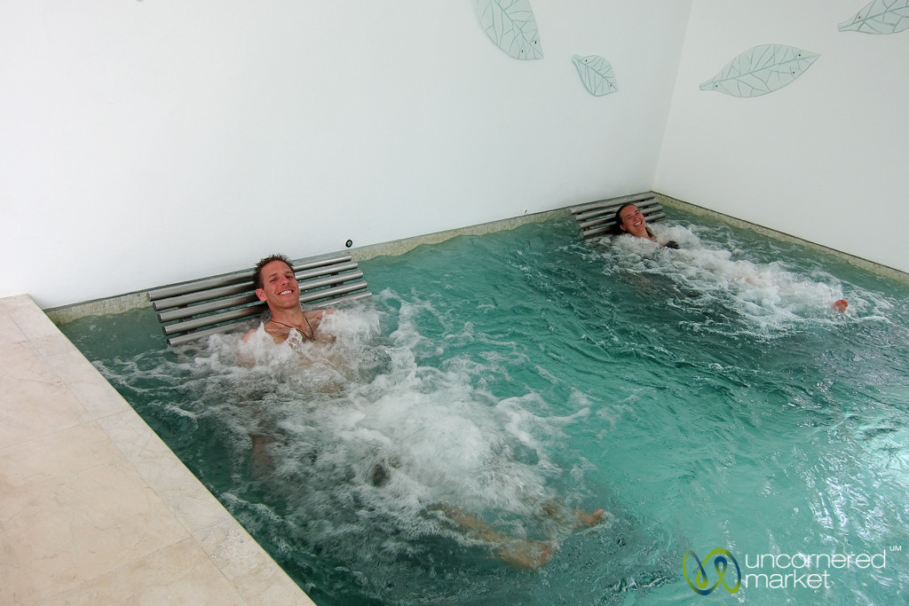 Relaxing in the Wellness Pool - Riviera Maya, Mexico