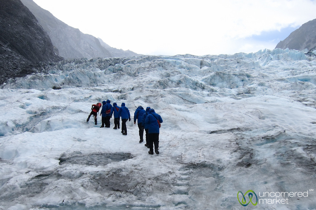 Trekking at Franz Josef Glacier - South Island, New Zealand