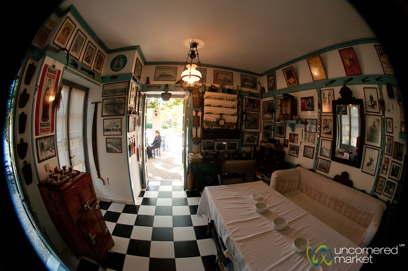 Fisheye View of Cretan Cafe - Rethymnon, Crete