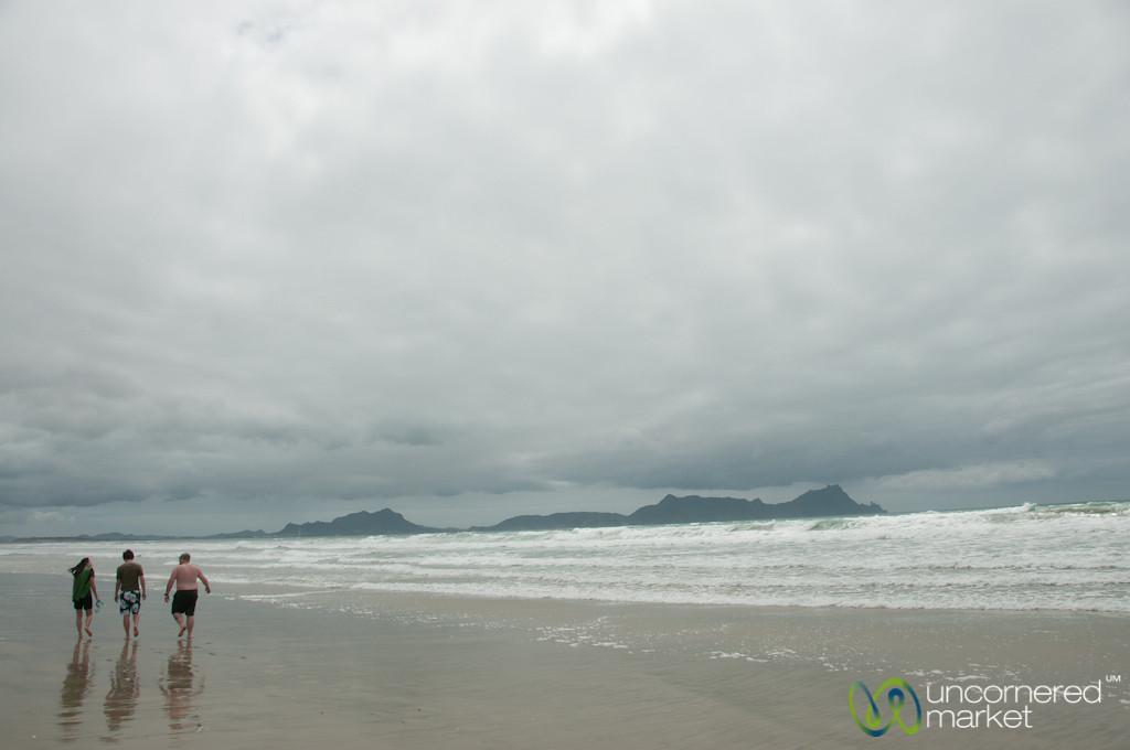 Walking Along Uretiti Beach - Northland, New Zealand