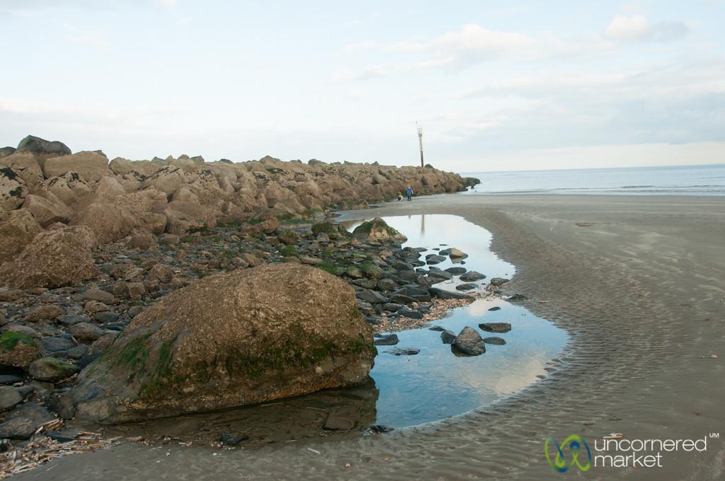 Mornington Beach, Climbing on the Rocks - Ireland