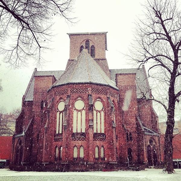 Beauty is just around the corner in Neukölln. Let it snow. #Berlin