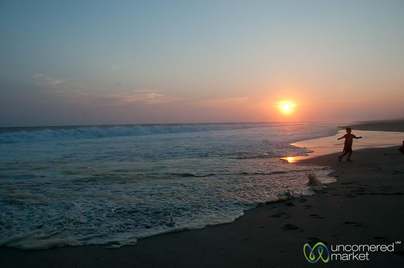On La Ventanilla Beach at Sunset - Mazunte, Mexico