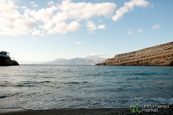 View of Libyan Sea from Matala - Crete, Greece