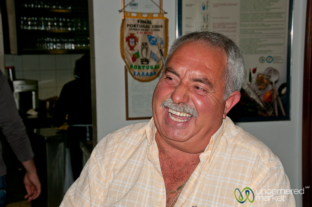 Laughing Restaurant Owner - Crete, Greece