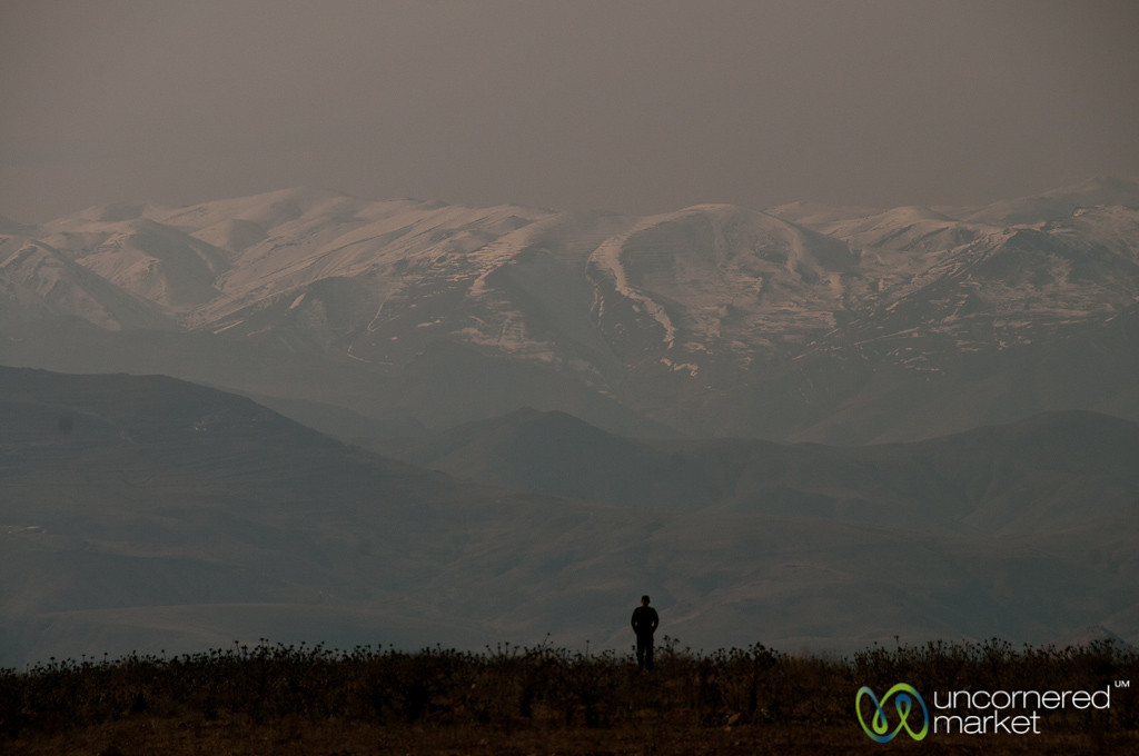 Snow-Covered Iranian Mountains near Tehran