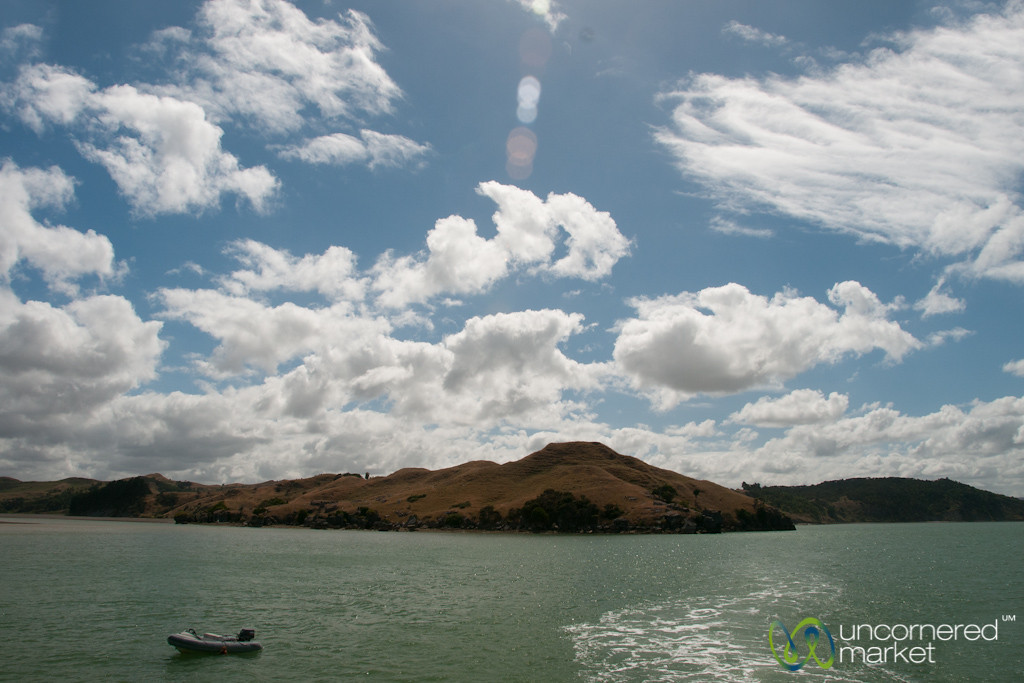Boat Ride Around Raglan Harbor - New Zealand