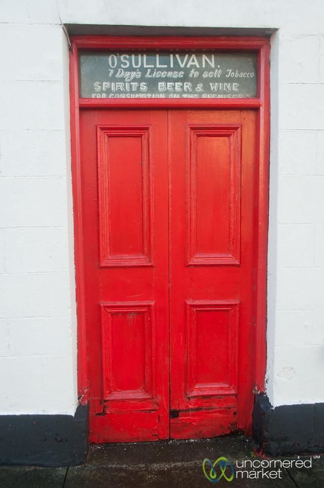 Irish Red Door - Inishcrone, Ireland