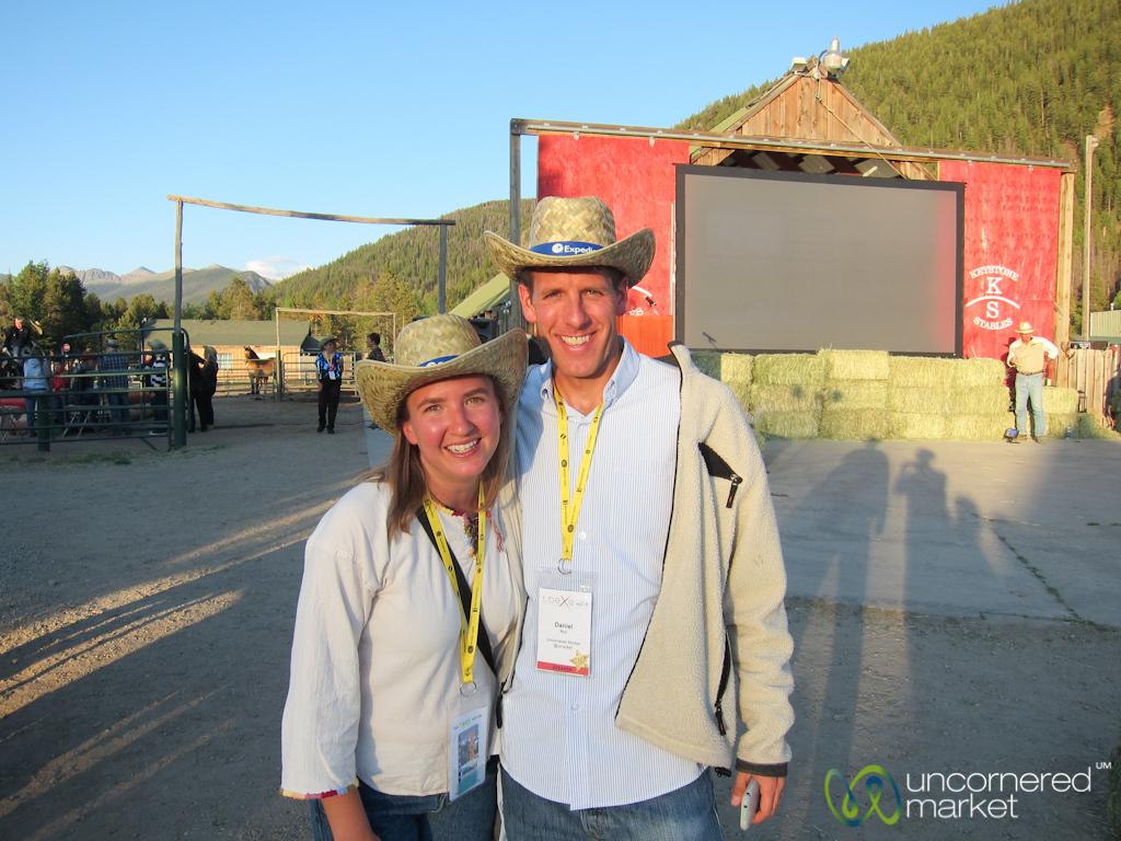 Audrey and Dan as Cowboys - TBEX Keystone, Colorado