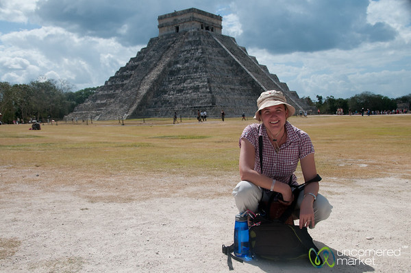Audrey at Chichen Itza - Yucatan, Mexico