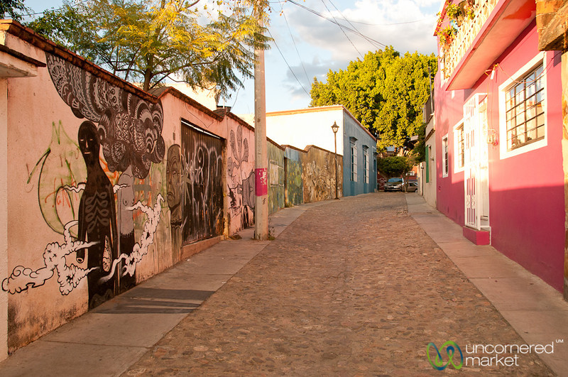 Oaxacan Street Scene and Graffiti - Mexico