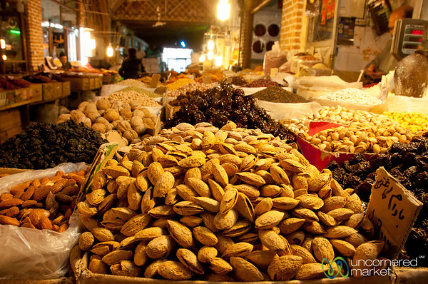 Nuts and Dried Fruits at Ardabil Market, Iran