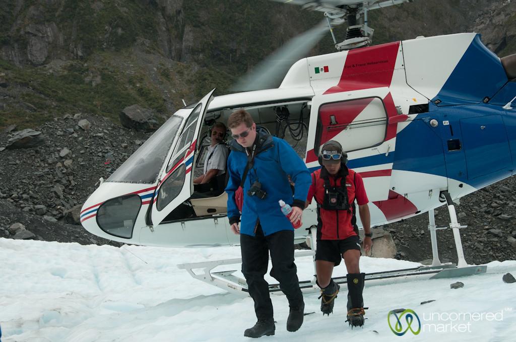 Helicopter Ride to Franz Josef Glacier - South Island, New Zealand
