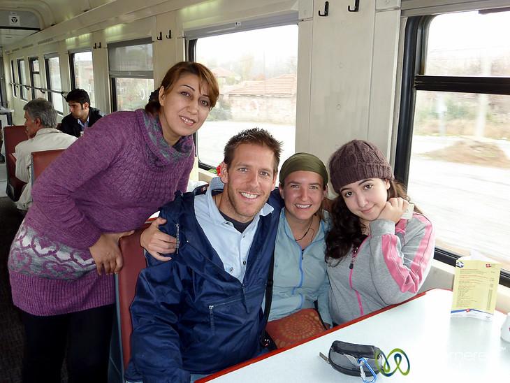 New Iranian Friends on Train - Turkey
