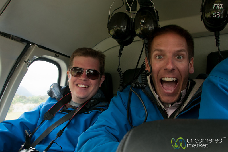 Helicopter Fun at Franz Josef Glacier - South Island, New Zealand