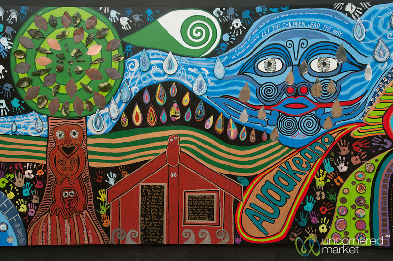 Hundertwasser Inspired Street Art - Kawakawa, New Zealand