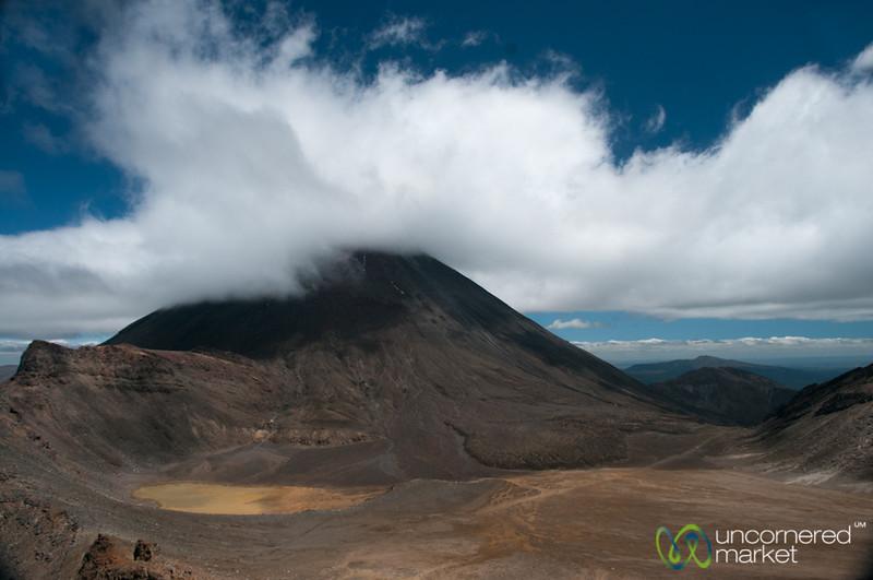 Tongariro Crossing Trek, Looking Down Over Mordor - New Zealand